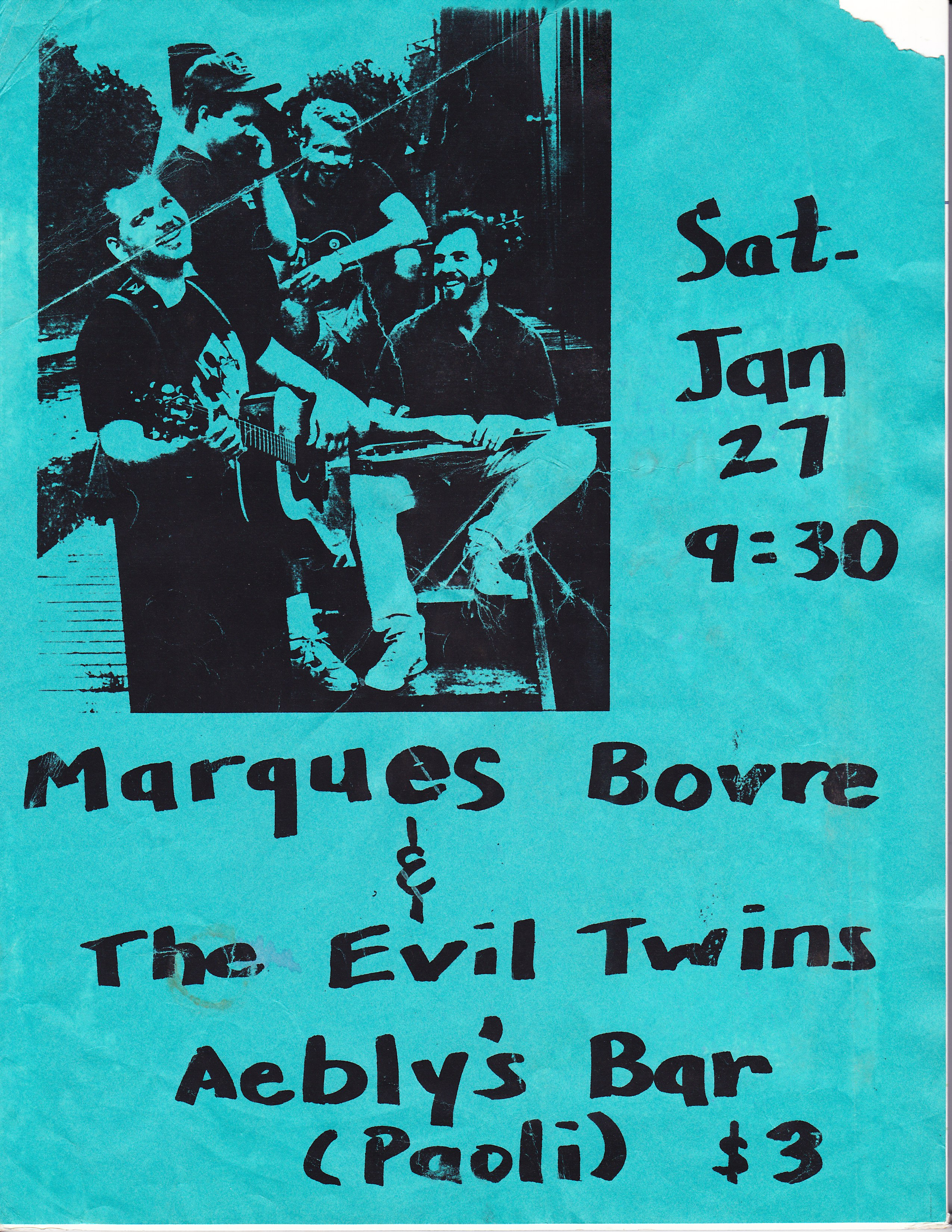 Marques Bovre and the Evil Twins, January 27, 1990