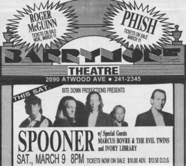 Marques Bovre and the Evil Twins opening for Spooner, March 9, 1991