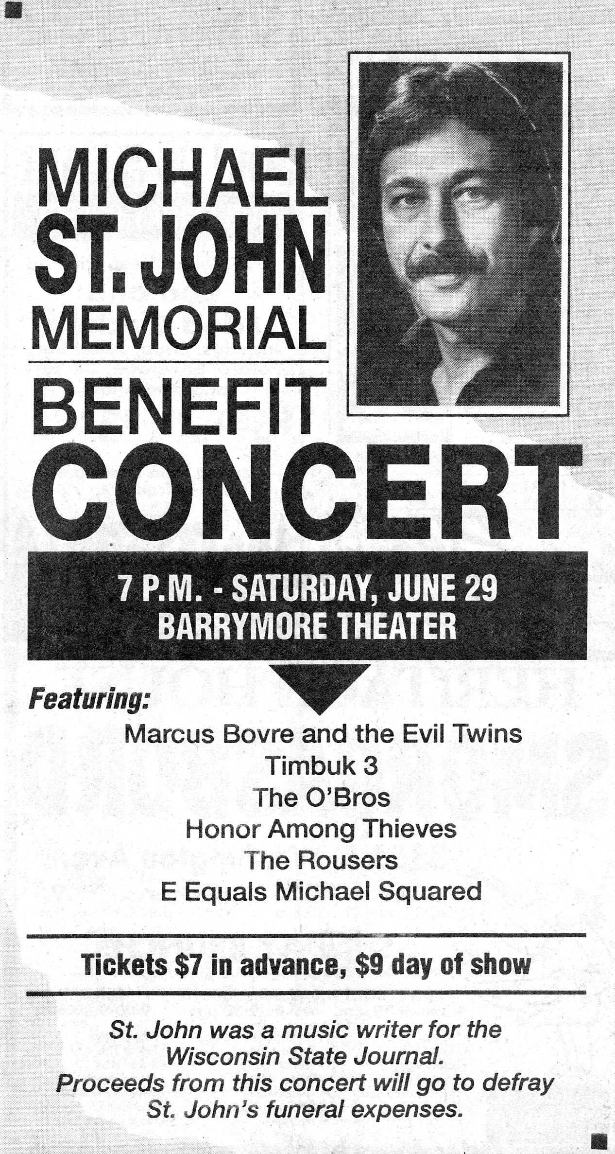 Marques Bovre and the Evil Twins, June 29, 1991