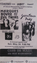 Marques Bovre and the Evil Twins, May 24, 1992