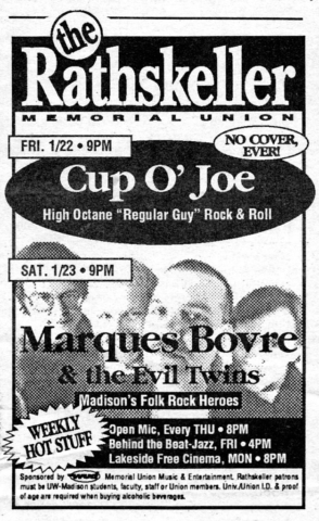 Marques Bovre and the Evil Twins, January 23, 1993