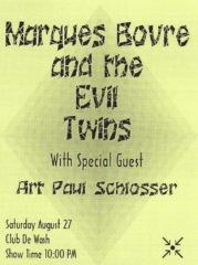Marques Bovre and the Evil Twins, August 27, 1994