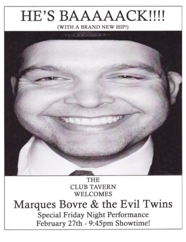 Marques Bovre and the Evil Twins, February 27, 1998