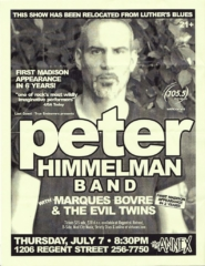 Marques Bovre and the Evil Twins, opening for Peter Himmelman July 7, 2005